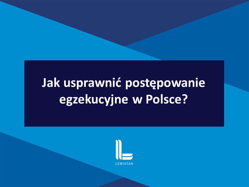 Jak usprawnić postępowanie egzekucyjne w Polsce?