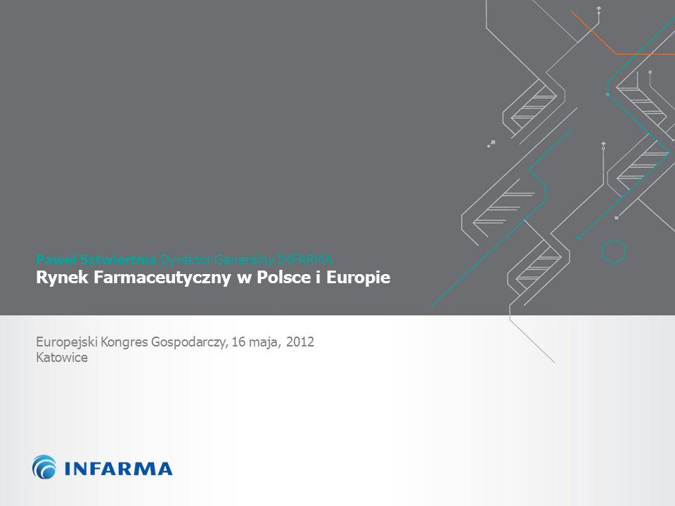 Paweł Sztwiertnia Dyrektor Generalny INFARMA Rynek Farmaceutyczny w Polsce i Europie Europejski Kongres Gospodarczy, 16 maja, 2012 Katowice