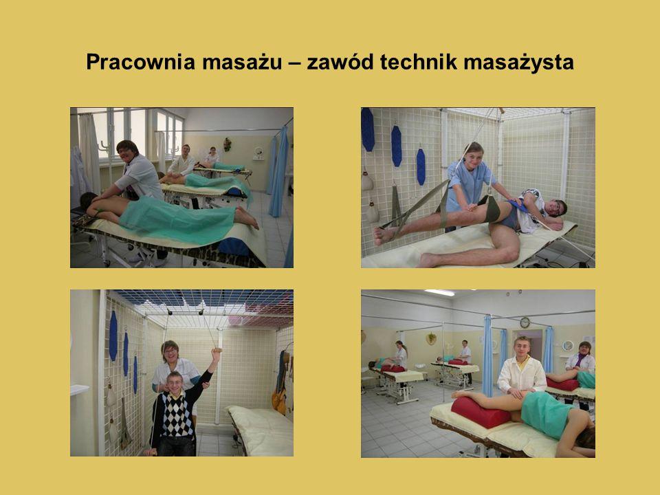Pracownia masażu – zawód technik masażysta