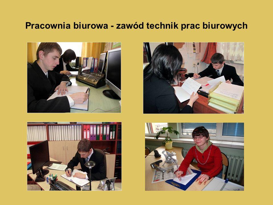 Pracownia biurowa - zawód technik prac biurowych