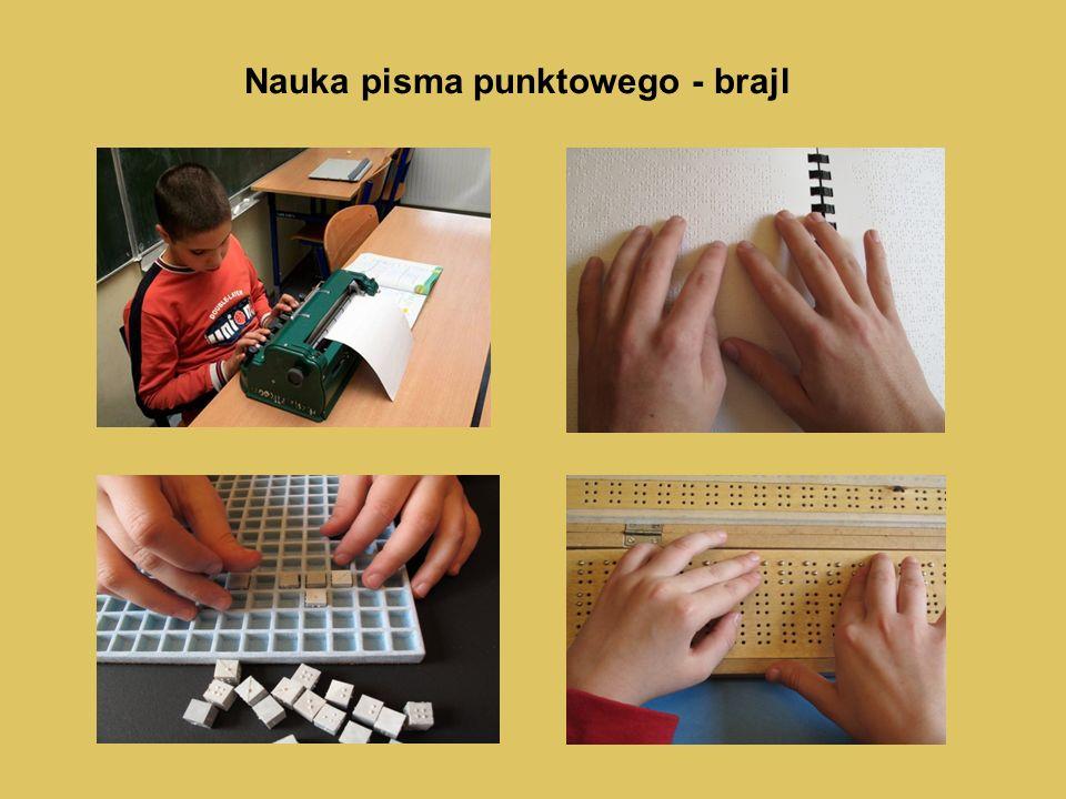Nauka pisma punktowego - brajl
