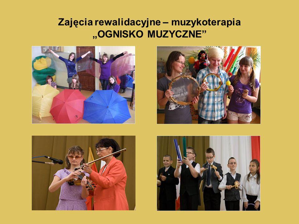 """Zajęcia rewalidacyjne – muzykoterapia """"OGNISKO MUZYCZNE"""