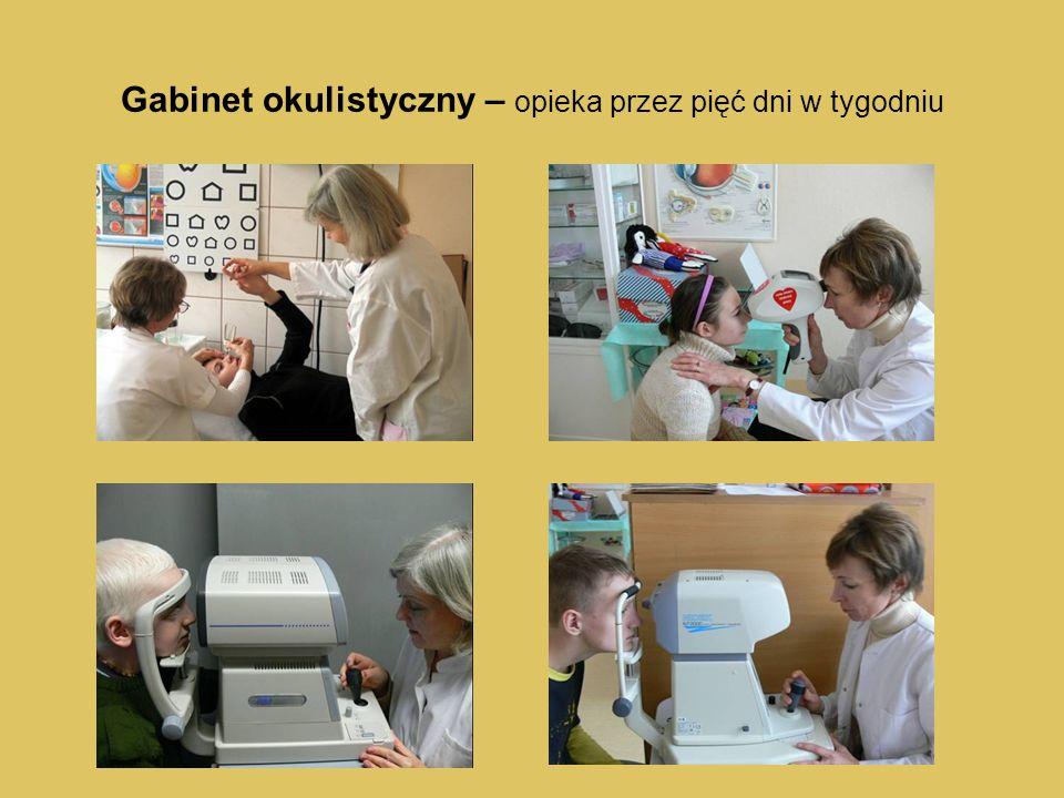 Gabinet okulistyczny – opieka przez pięć dni w tygodniu