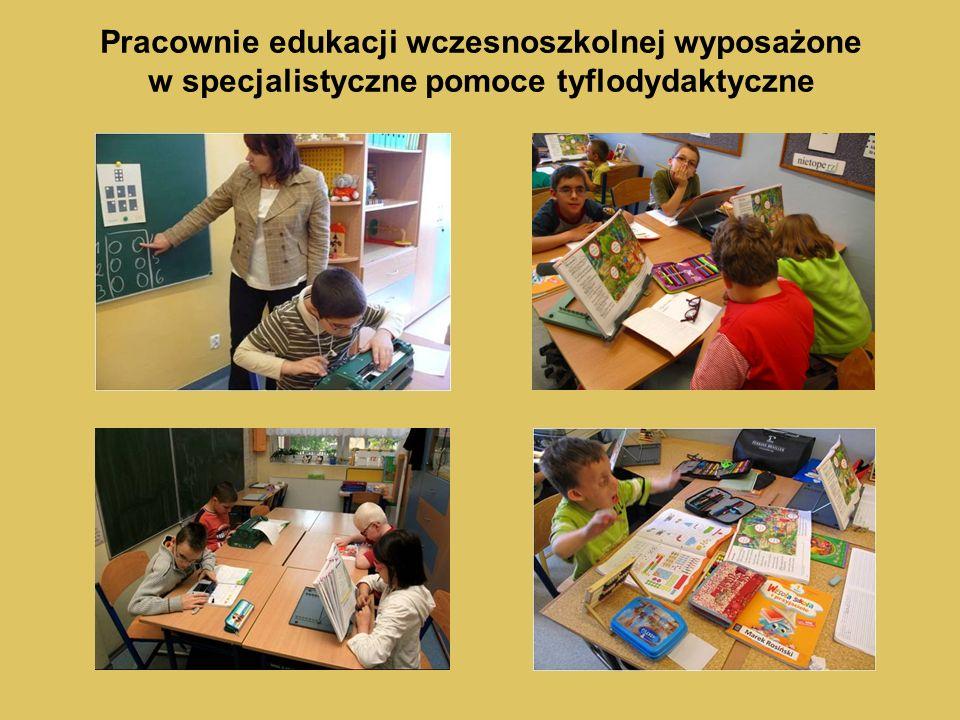 Pracownie edukacji wczesnoszkolnej wyposażone w specjalistyczne pomoce tyflodydaktyczne