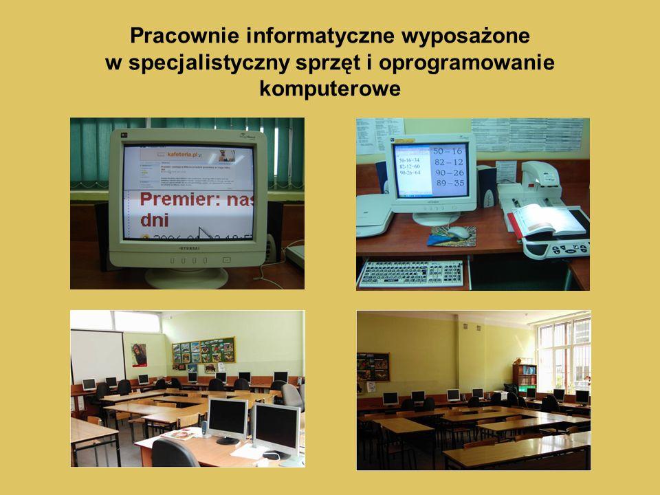 Pracownie informatyczne wyposażone w specjalistyczny sprzęt i oprogramowanie komputerowe