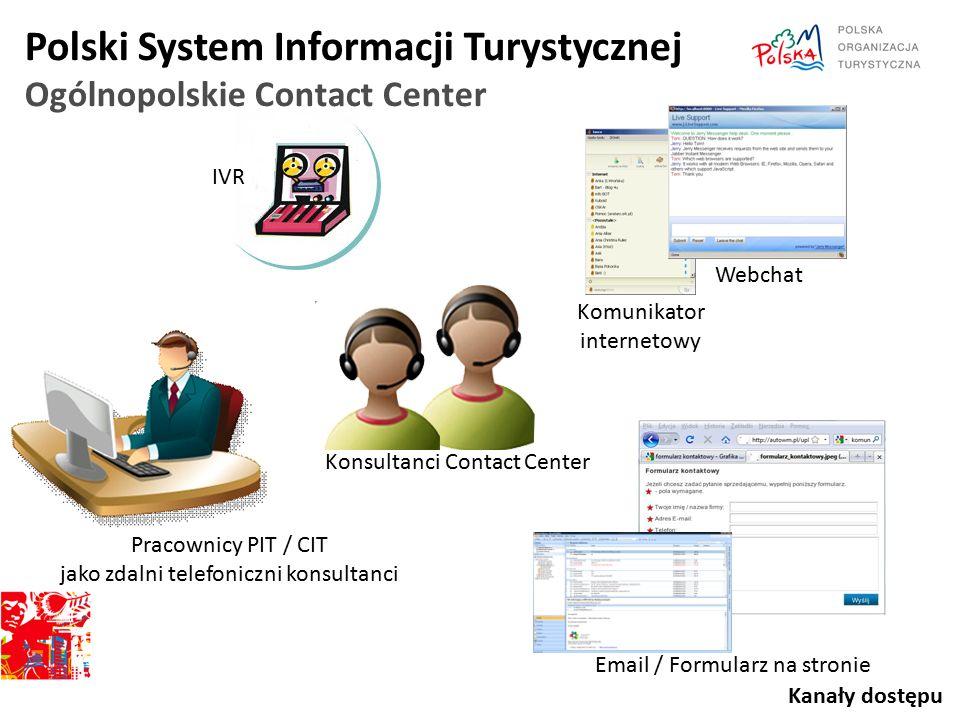 IVR Komunikator internetowy Webchat Email / Formularz na stronie Pracownicy PIT / CIT jako zdalni telefoniczni konsultanci Konsultanci Contact Center
