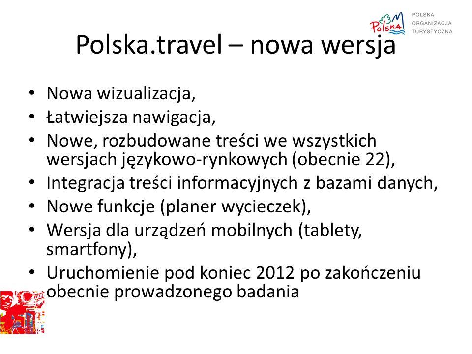 Polska.travel – nowa wersja Nowa wizualizacja, Łatwiejsza nawigacja, Nowe, rozbudowane treści we wszystkich wersjach językowo-rynkowych (obecnie 22),