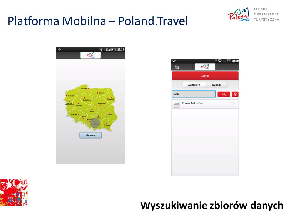 Platforma Mobilna – Poland.Travel Wyszukiwanie zbiorów danych
