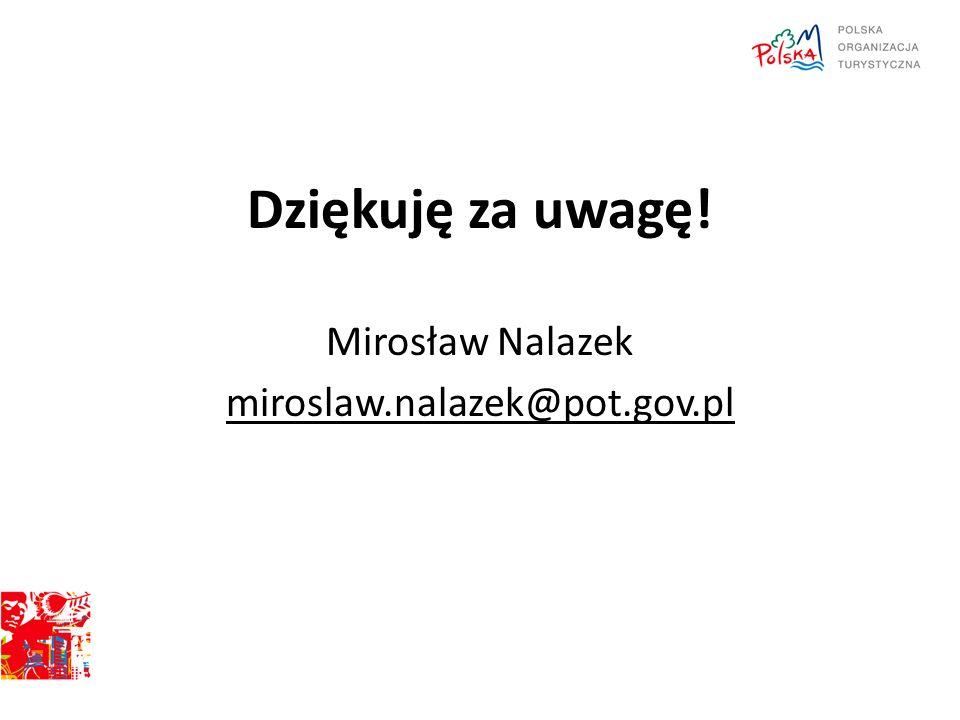 Dziękuję za uwagę! Mirosław Nalazek miroslaw.nalazek@pot.gov.pl