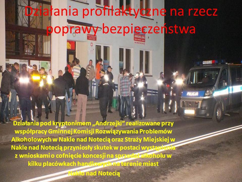 """Działania profilaktyczne na rzecz poprawy bezpieczeństwa Działania pod kryptonimem """"Andrzejki"""" realizowane przy współpracy Gminnej Komisji Rozwiązywan"""