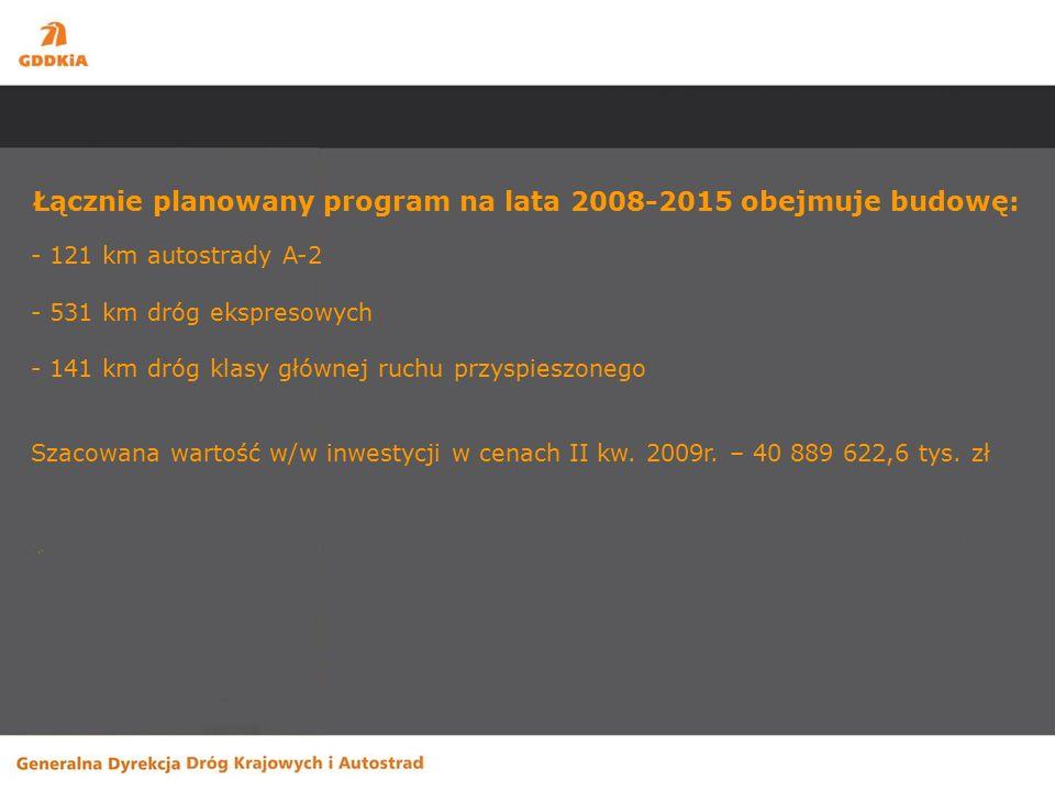 Wzmocnienia -DK 62 w. Skuszew - Łochów długość odcinka – 16,3 km wartość zadania – 81,5 mln. zł