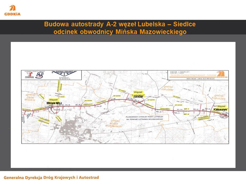 Wzmocnienia -DK 2 Zakręt - Siedlce długość odcinka – 78,9 km wartość zadania – 367,9 mln zł Wzmocnienia mostów -DK 62 most na rzece Bug w m.
