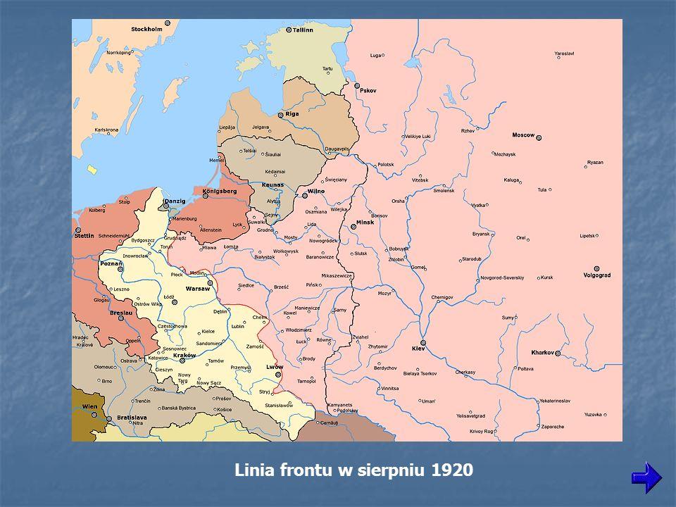 Pozycje pod Lipskiem. Marszałek Józef Piłsudski w rozmowie z Edwardem Rydzem-Śmigłym