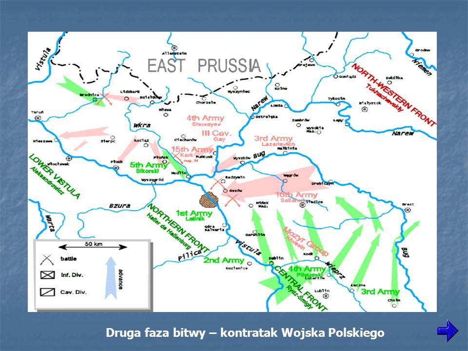 Druga faza bitwy – kontratak Wojska Polskiego