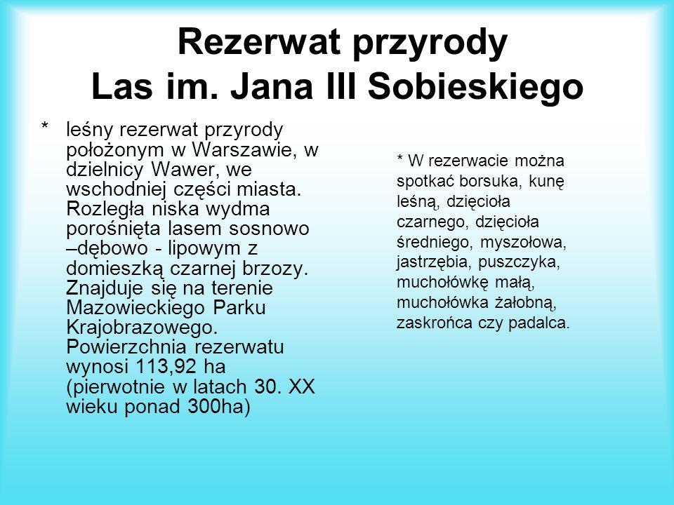 Mapa rezerwatów chronionych na Mazowszu:
