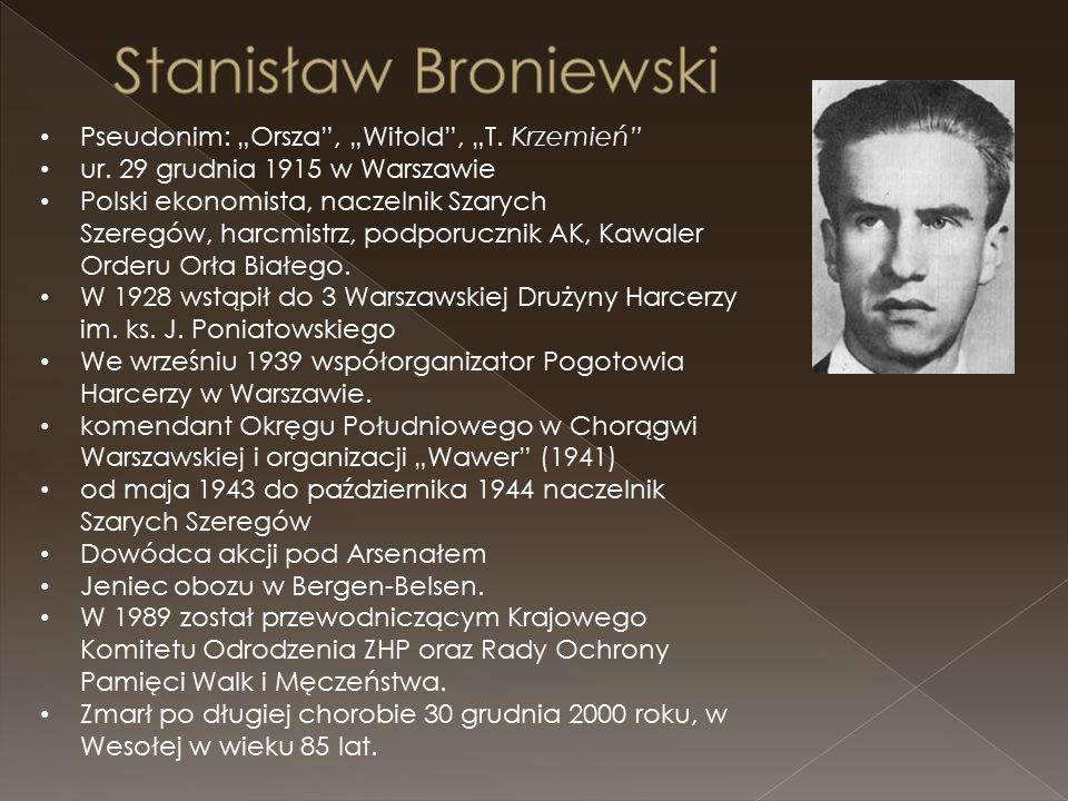 "Pseudonim: ""Orsza , ""Witold , ""T. Krzemień ur."