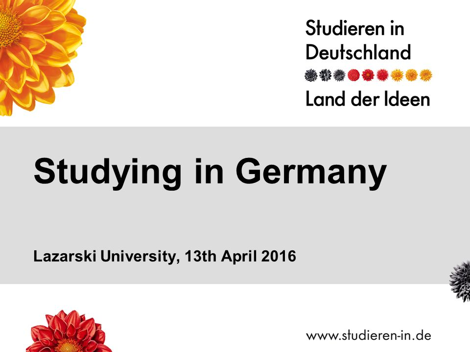 Studying in Germany Lazarski University, 13th April 2016