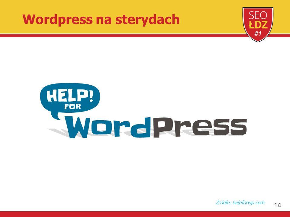 14 Wordpress na sterydach Źródło: helpforwp.com