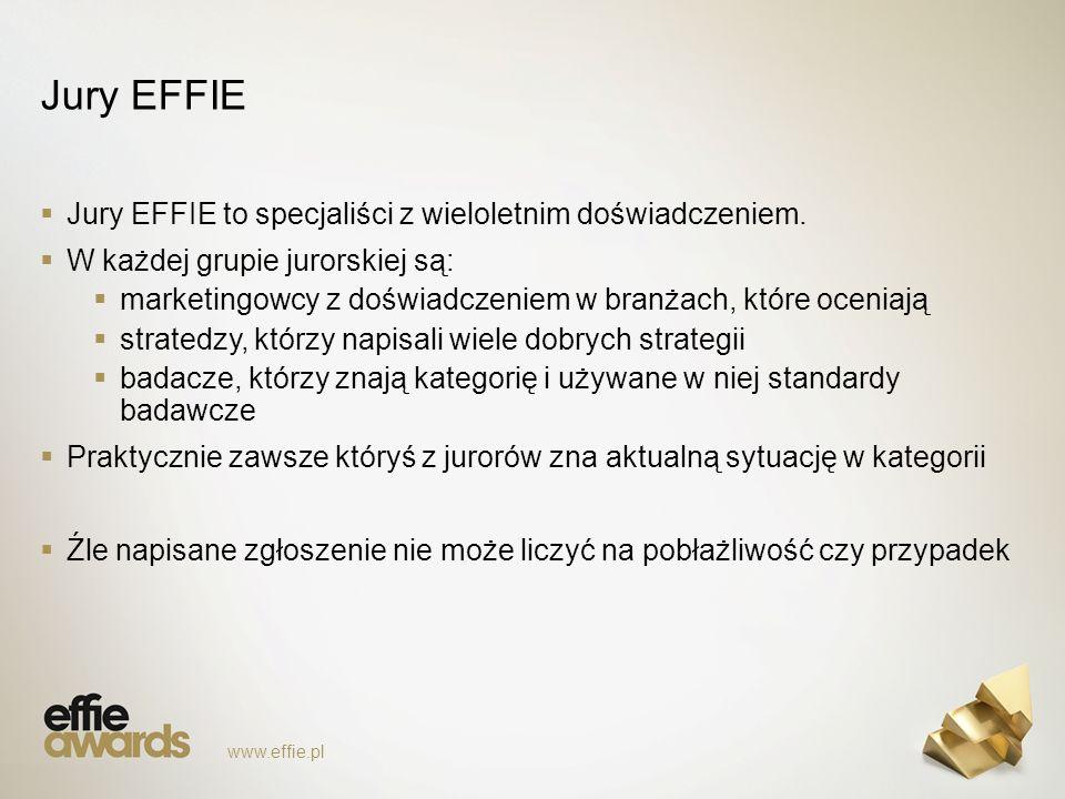 Jury EFFIE  Jury EFFIE to specjaliści z wieloletnim doświadczeniem.