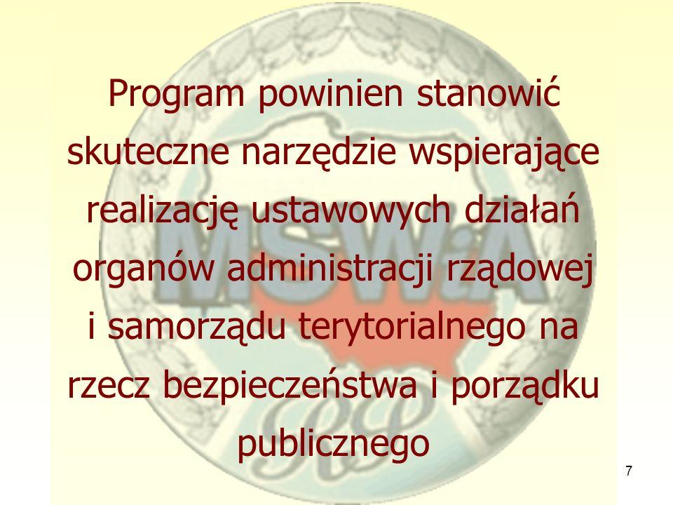 7 Program powinien stanowić skuteczne narzędzie wspierające realizację ustawowych działań organów administracji rządowej i samorządu terytorialnego na