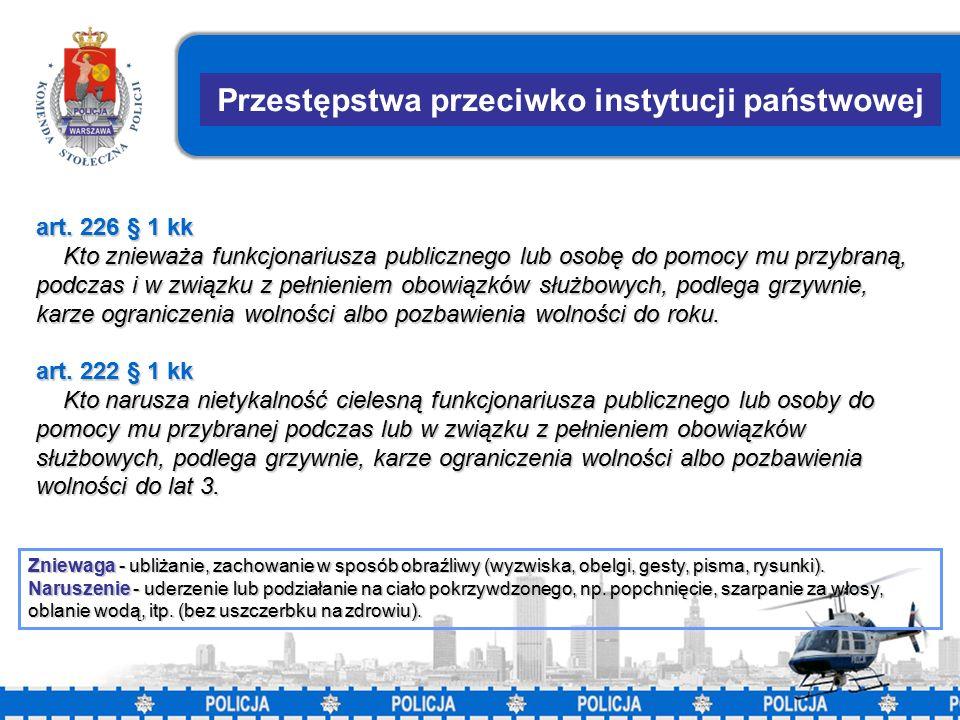 24 Przestępstwa przeciwko instytucji państwowej art.