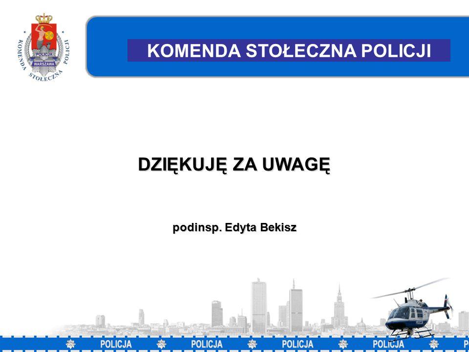 43 KOMENDA STOŁECZNA POLICJI DZIĘKUJĘ ZA UWAGĘ podinsp. Edyta Bekisz
