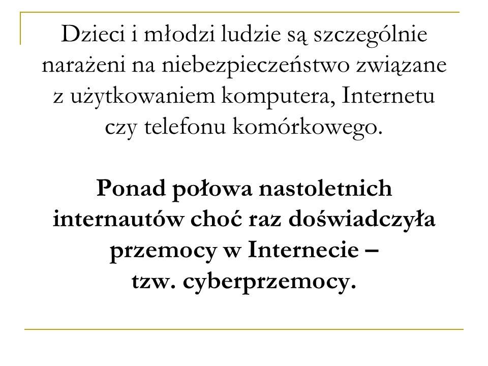Prawna ochrona przed cyberprzemocą: Konstytucja RP, Konwencja o Prawach Dziecka, Kodeks cywilny, Kodeks karny, Kodeks wykroczeń.