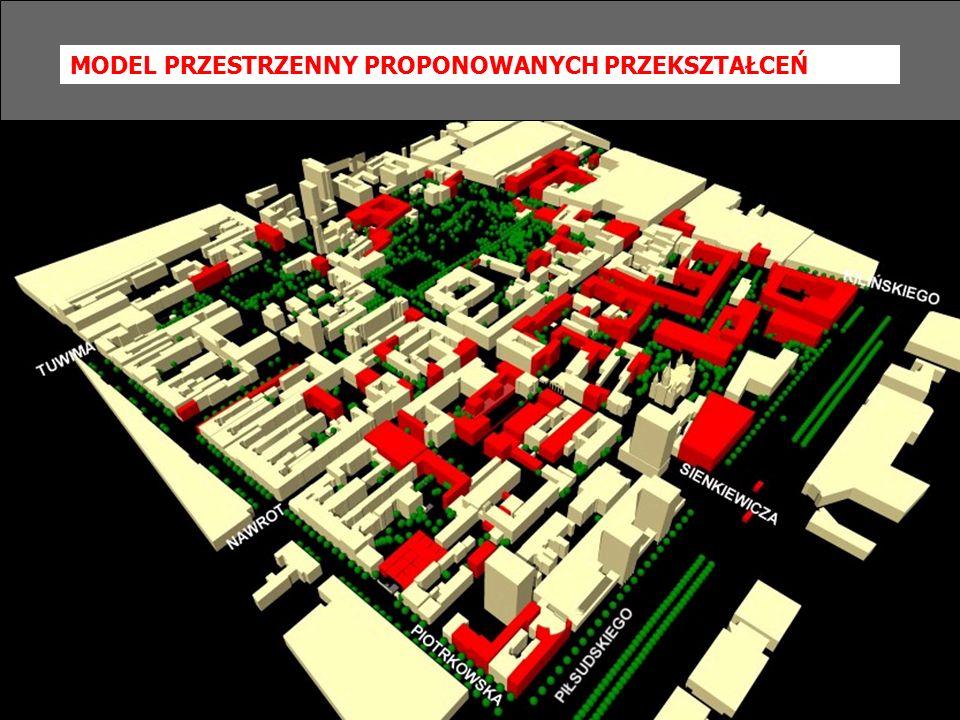 Model przestrzenny projektowanych przekształceń MODEL PRZESTRZENNY PROPONOWANYCH PRZEKSZTAŁCEŃ