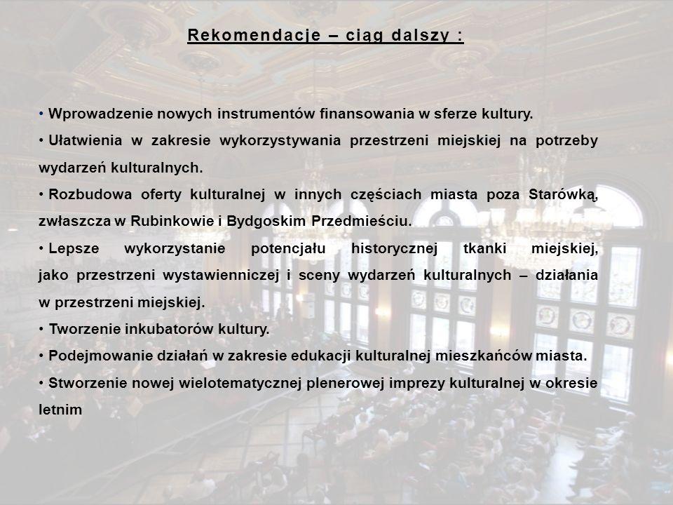 PRZEBIEG PRAC NAD STRATEGIĄ KULTURY MIASTA TORUNIA II.