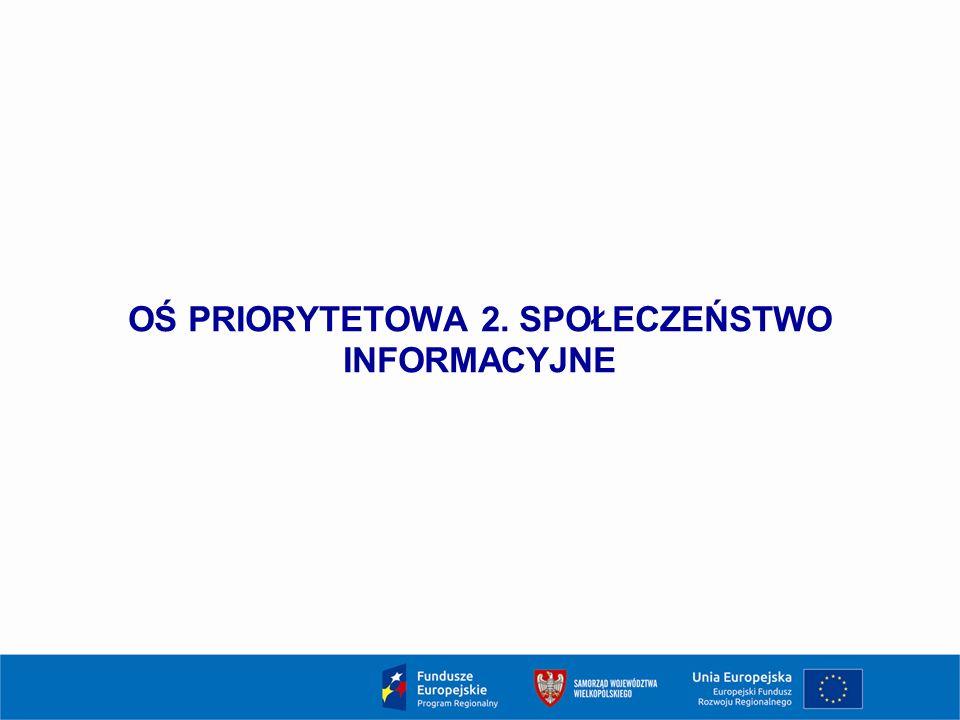 OŚ PRIORYTETOWA 2. SPOŁECZEŃSTWO INFORMACYJNE