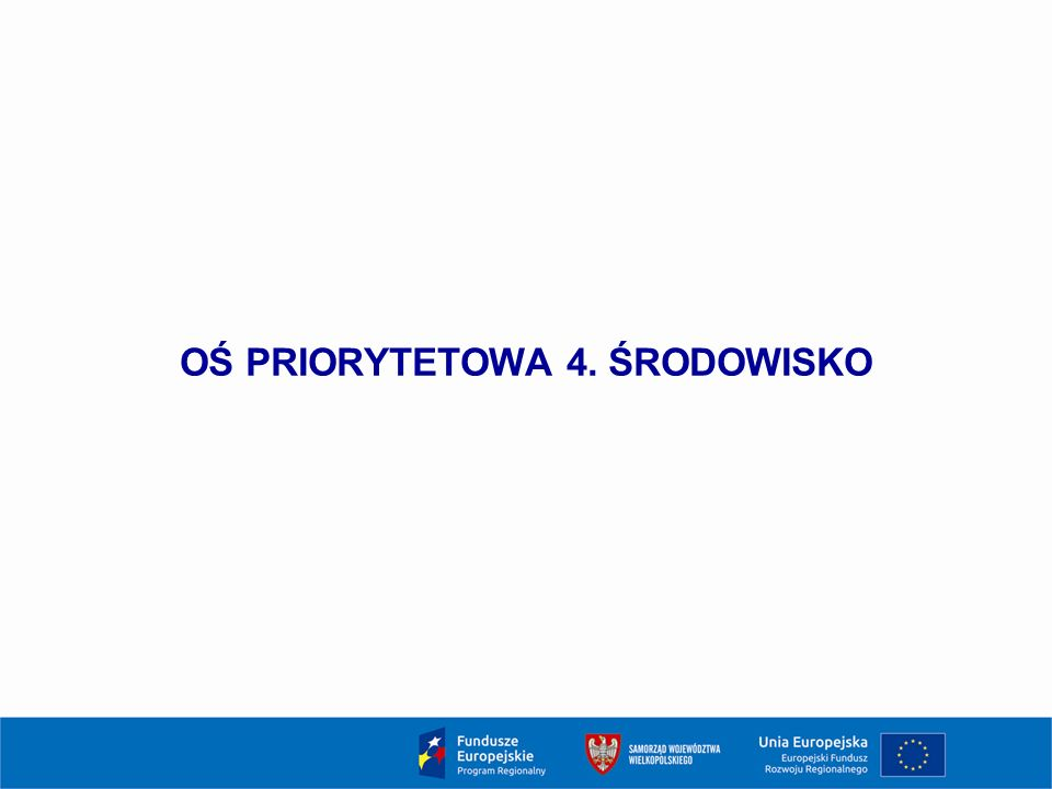 OŚ PRIORYTETOWA 4. ŚRODOWISKO