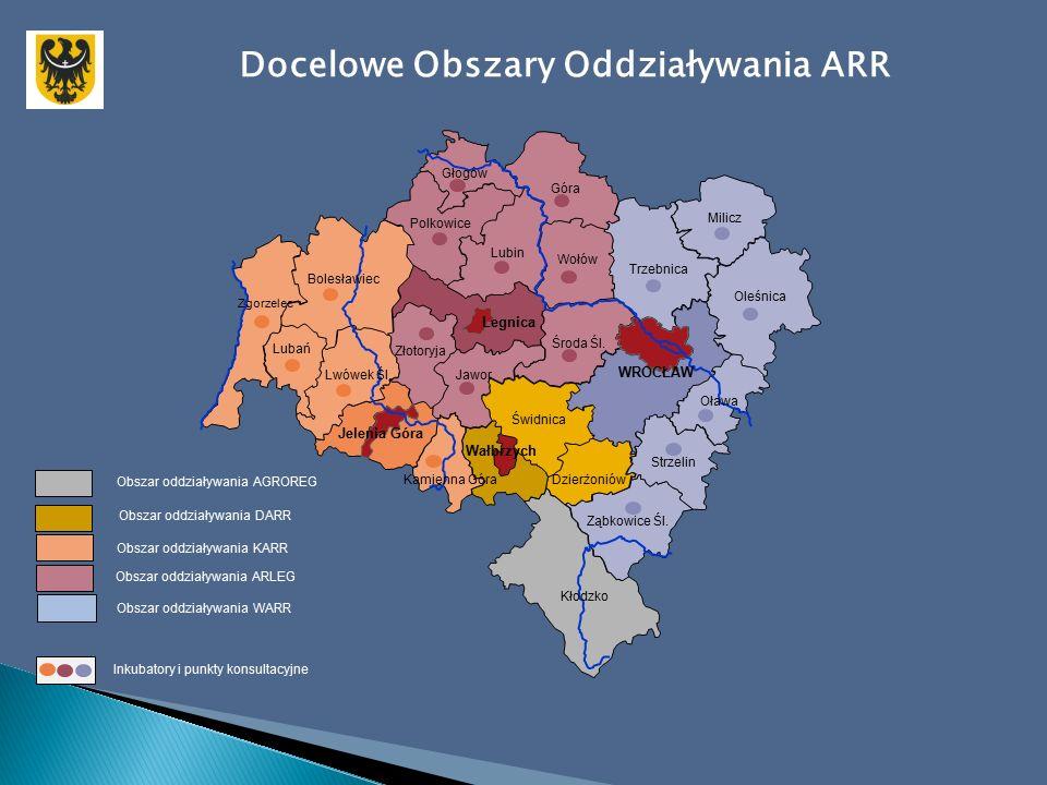 Docelowe Obszary Oddziaływania ARR Zgorzelec Bolesławiec Lubań Lwówek Śl.