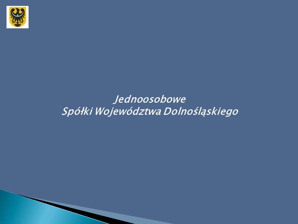 Jednoosobowe Spółki Województwa Dolnośląskiego