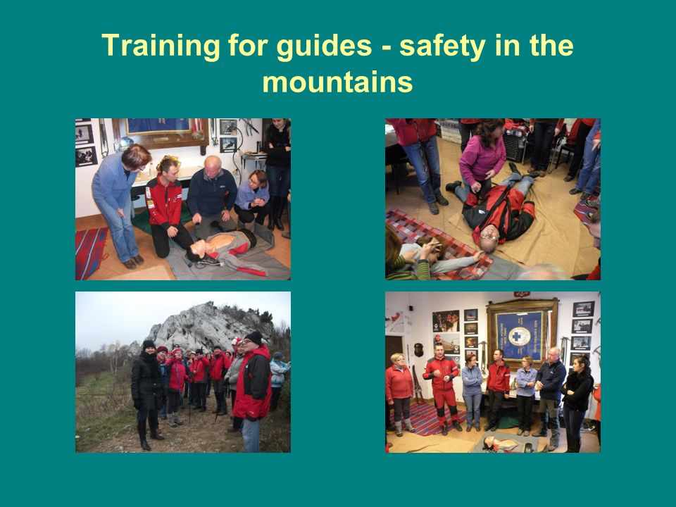 Training for guides - safety in the mountains