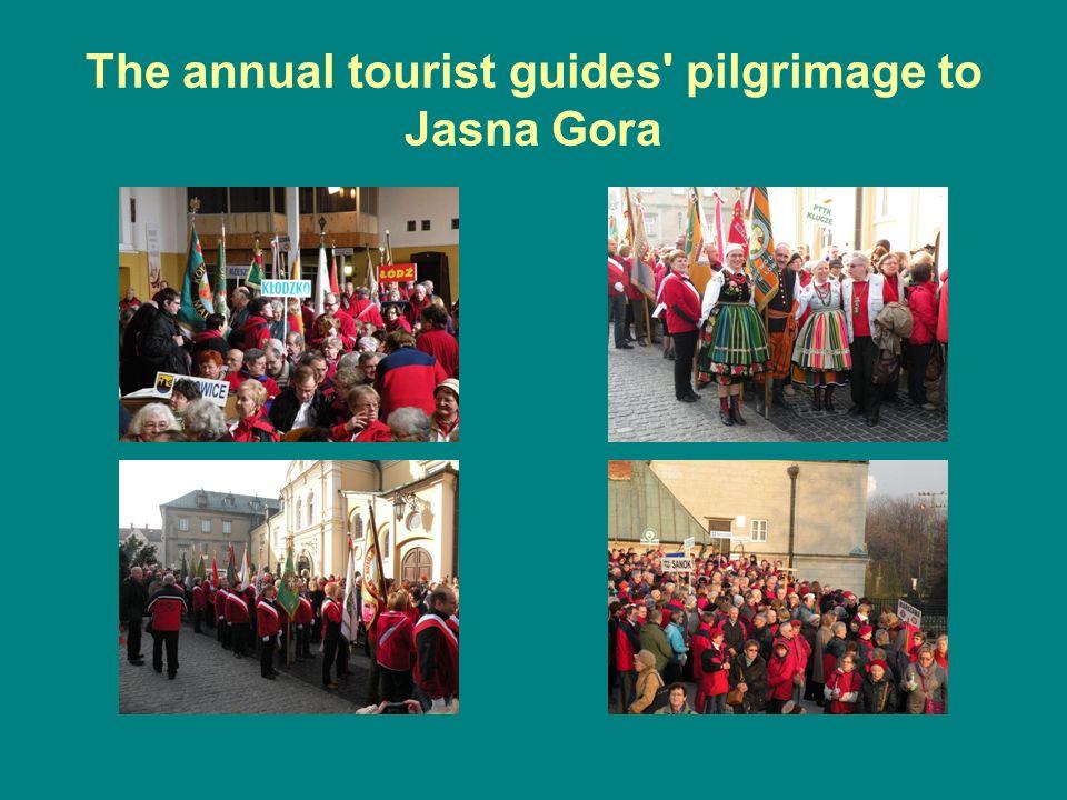 The annual tourist guides pilgrimage to Jasna Gora