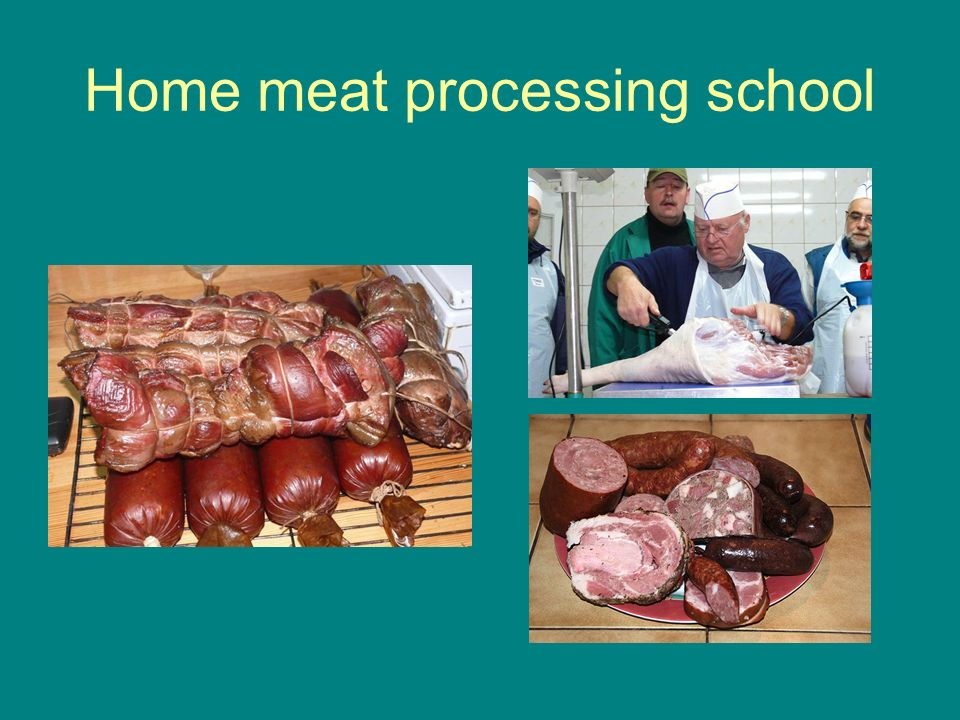 Home meat processing school