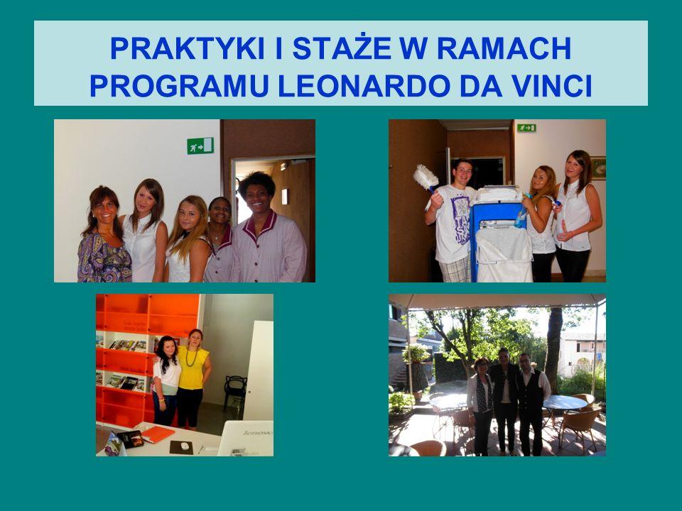 PRAKTYKI I STAŻE W RAMACH PROGRAMU LEONARDO DA VINCI