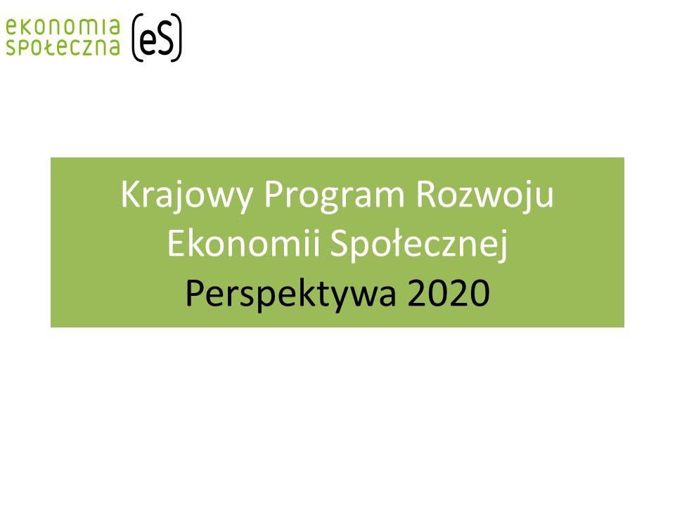 Krajowy Program Rozwoju Ekonomii Społecznej Perspektywa 2020