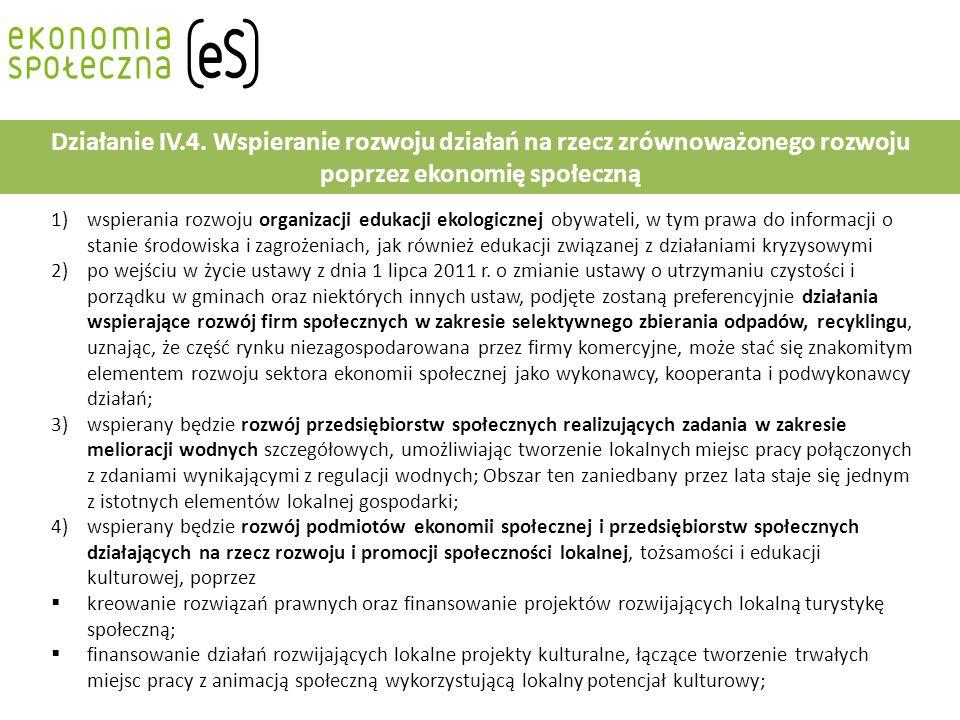 1)wspierania rozwoju organizacji edukacji ekologicznej obywateli, w tym prawa do informacji o stanie środowiska i zagrożeniach, jak również edukacji związanej z działaniami kryzysowymi 2)po wejściu w życie ustawy z dnia 1 lipca 2011 r.