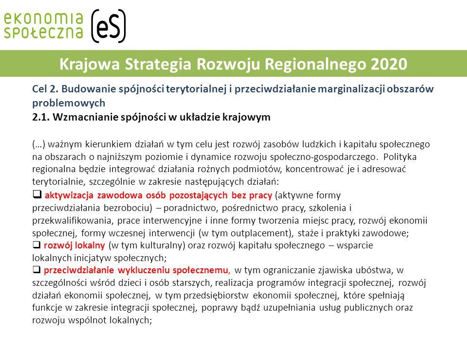 Strategia Rozwoju Kapitału Ludzkiego 2020 Narzędzie 40: Rozwój systemu aktywnej integracji 2.2.