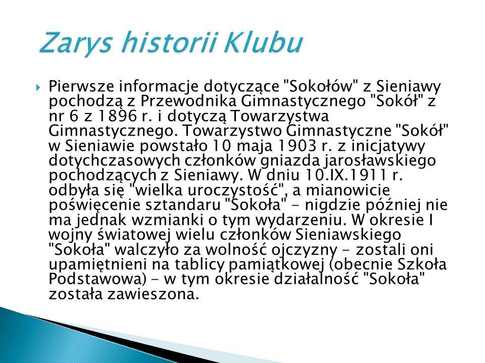  W okresie międzywojennym działalność Sokoła polegała na uprawnieniu ćwiczeń gimnastycznych oraz lekkoatletycznych.