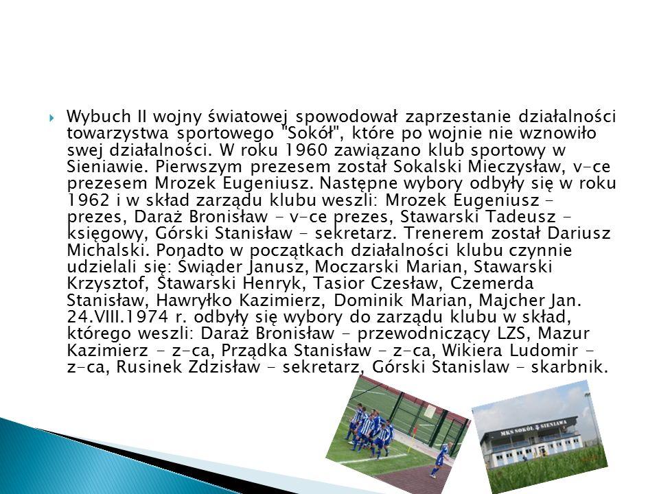  Na początku lat 80-tych w roku 1981 w zarządzie LZS zasiadali: Hawryłko Kaziemierz - prezes, Prządka Stanisław - v-ce prezes do spraw organizacyjnych, Michalski Dariusz - v-ce prezes ds.