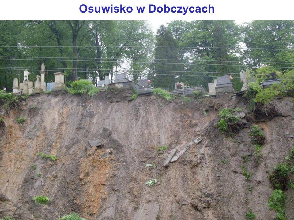Osuwisko w Dobczycach