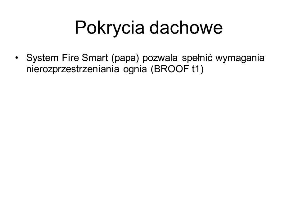 Pokrycia dachowe System Fire Smart (papa) pozwala spełnić wymagania nierozprzestrzeniania ognia (BROOF t1)