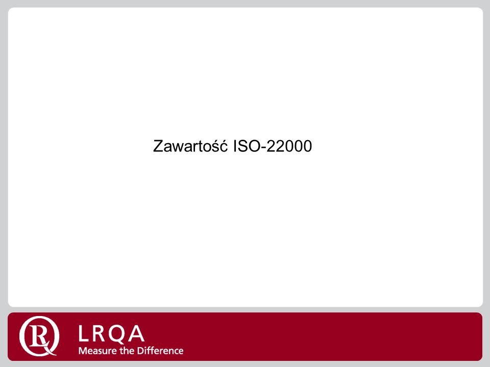 Zawartość ISO-22000