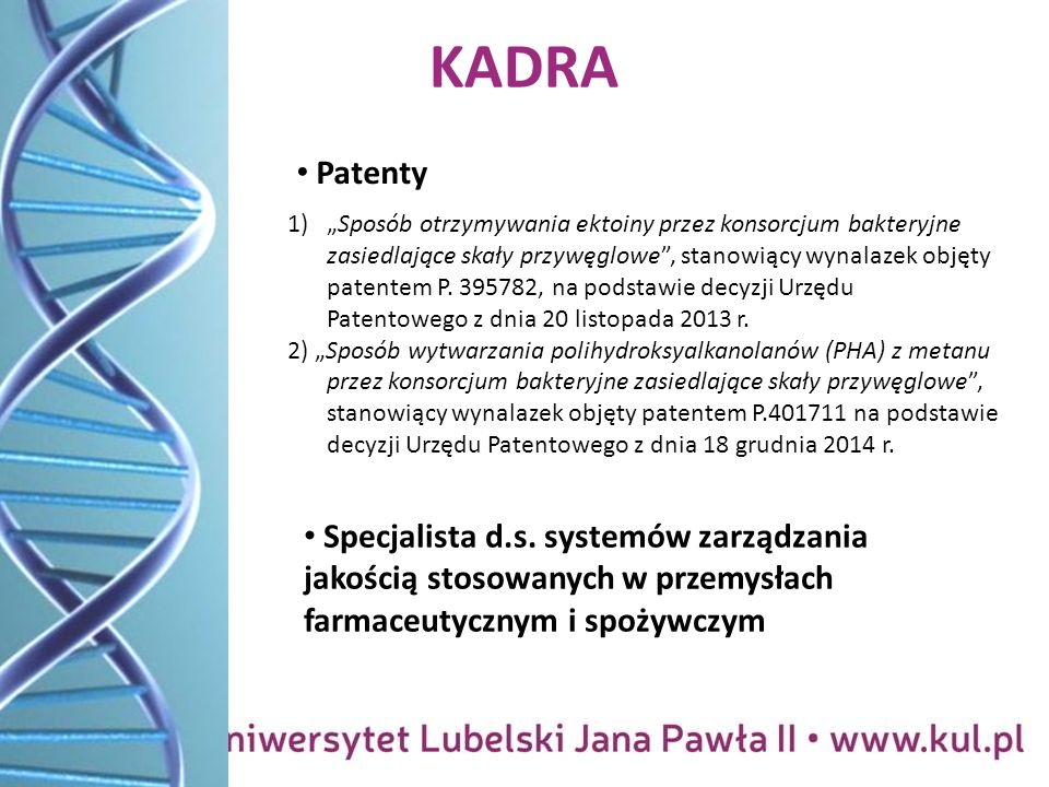 KADRA Patenty Specjalista d.s.
