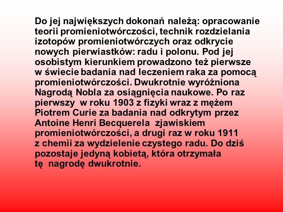 Urodziła się 7 listopada 1867 r. w Warszawie, zmarła lipca 1934 r. w klinice Salanches. Wybitna uczona urodzona w Polsce, większość Życia i kariery na