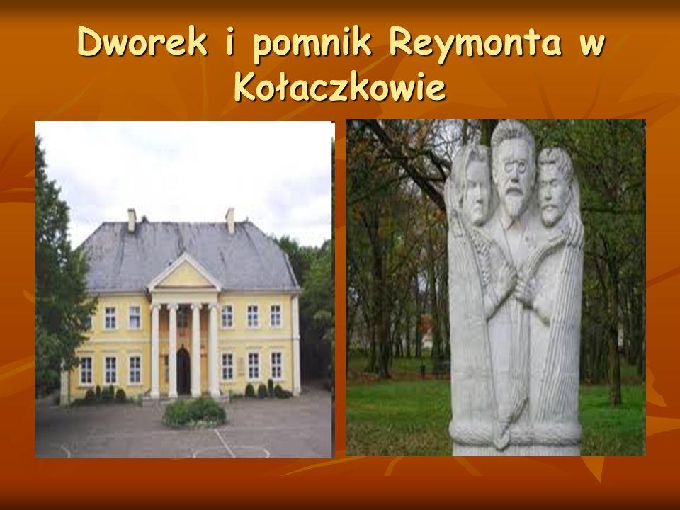 Dworek i pomnik Reymonta w Kołaczkowie