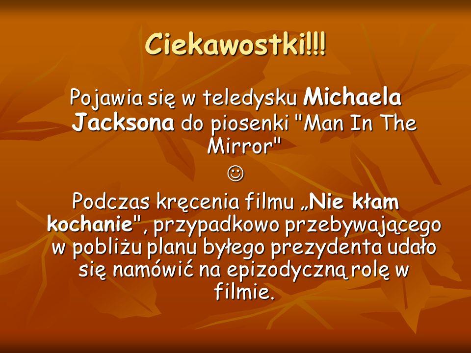 Ciekawostki!!! Pojawia się w teledysku Michaela Jacksona do piosenki