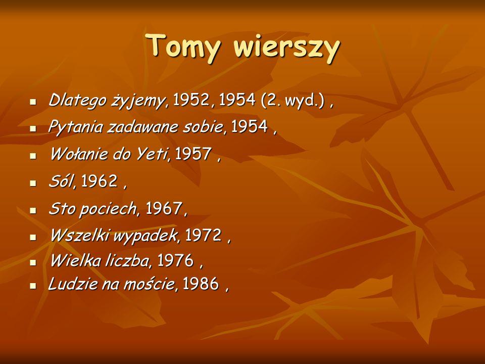 Tomy wierszy Dlatego żyjemy, 1952, 1954 (2.wyd.), Dlatego żyjemy, 1952, 1954 (2.